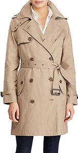 Read more about Lauren ralph lauren cotton blend trench coat sand