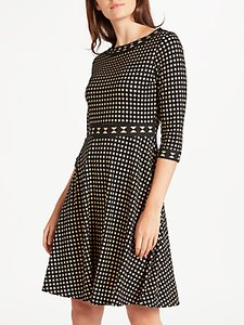 Read more about Max studio abacus dot devore dress black ecru