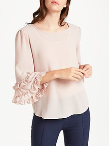 Read more about Max studio ruffle sleeve top pink blush