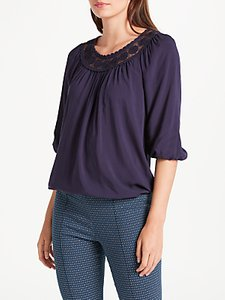 Read more about Max studio 3 4 sleeve yoke top navy