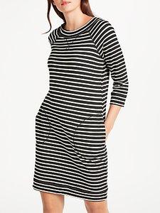 Read more about Max studio stripe jersey dress black white