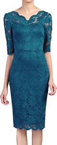 Read more about Jolie moi lace bodycon dress petrol blue