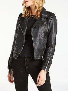 Read more about Calvin klein mia leather biker jacket black