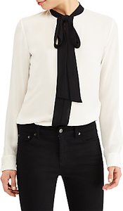Read more about Lauren ralph lauren kuniko georgette necktie blouse mascarpone cream black