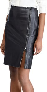 Read more about Lauren ralph lauren rabancio leather pencil skirt polo black