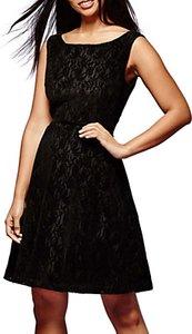 Read more about Yumi velvet floral lace dress black