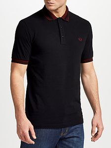 Read more about Fred perry contrast collar polo shirt black