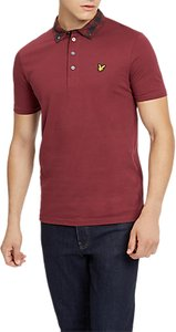 Read more about Lyle scott woven collar short sleeve polo shirt