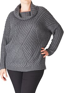 Read more about Adia cowl neck cable knitted wool blend jumper dark grey