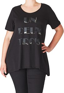 Read more about Adia front print slogan blouse black
