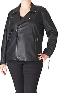Read more about Adia leather look biker jacket black