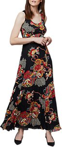 Read more about East shanghai pleated maxi dress black multi