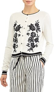 Read more about Lauren ralph lauren lilia embroidered cardigan mascarpone cream black