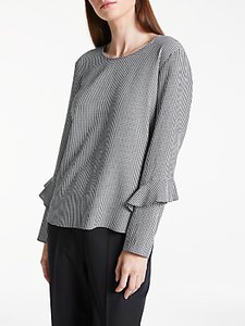 Read more about Gerry weber long sleeve gingham top black white