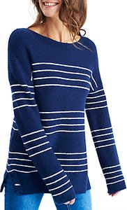 Read more about Joules rowena stripe jumper french navy