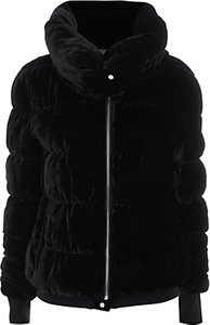 Read more about Karen millen velvet padded jacket black
