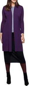Read more about East merino wool longline shawl cardigan purple
