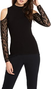 Read more about Jaeger cut-out lace sleeve jumper black
