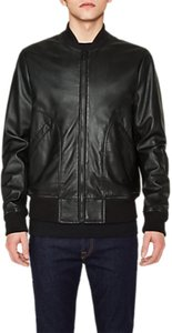 Read more about Ps by paul smith lamb leather bomber jacket black