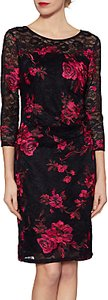 Read more about Gina bacconi amanda lace floral dress black pink