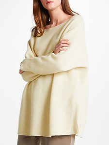 Read more about Modern rarity cashmere side split jumper cream