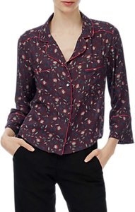 Read more about Brora lotus flower blouse bordeaux flame