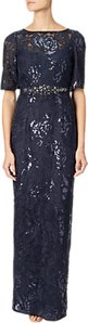 Read more about Adrianna papell sequin embroidered dress midnight