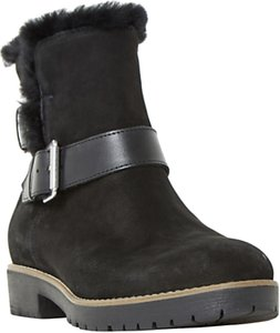 Read more about Dune persia buckle ankle boots black nubuck