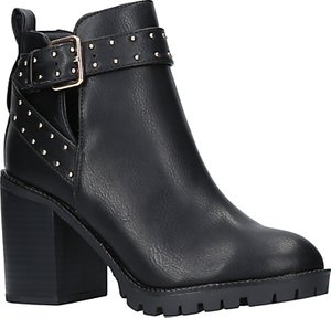 Read more about Miss kg taffy buckle block heeled ankle boots black