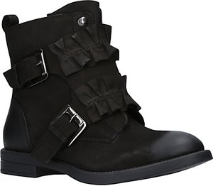 Read more about Miss kg spice frill ankle boots black leather
