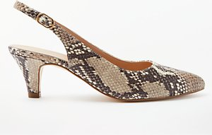 Read more about John lewis grace kitten heel court shoes snake leather