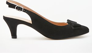 Read more about John lewis graciela kitten heel court shoes black suede