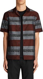 Read more about Allsaints gabon stripe short sleeve shirt red