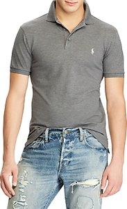 Read more about Polo ralph lauren custom slim fit polo top foster grey heather