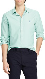 Read more about Polo ralph lauren slim fit oxford shirt bayside green