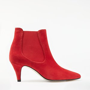 Read more about John lewis ovia kitten heel ankle chelsea boots red suede