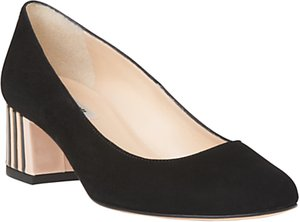 Read more about L k bennett maisy block heeled court shoes black stripe suede