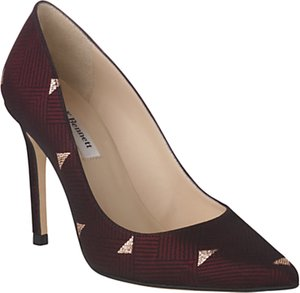 Read more about L k bennett fern pointed toe leather court shoes ruby red