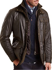 Read more about Barbour connel waxed cotton jacket olive