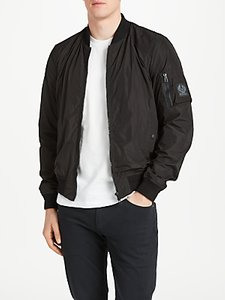 Read more about Belstaff mallison water repellent bomber jacket black
