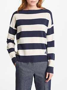 Read more about Marella meandro stripe jumper navy
