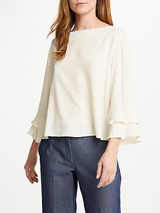Read more about Marella lago frill sleeve blouse white