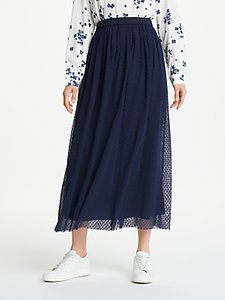 Read more about Marella galea tulle spot skirt navy