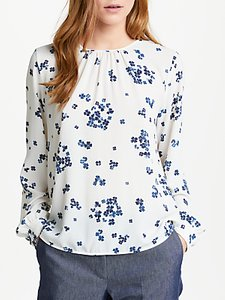 Read more about Marella nastie floral print long sleeve blouse white