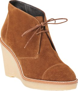 Read more about L k bennett madi wedge heel ankle boots brown suede