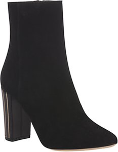 Read more about L k bennett milly high block heel ankle boots black suede