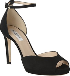 Read more about L k bennett yasmin stiletto heeled sandals black velvet