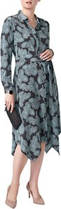 Read more about Pure collection silk floaty hem dress charcoal paisley