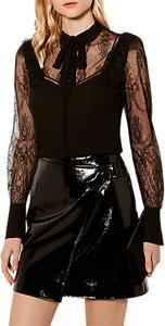 Read more about Karen millen sheer lace blouse black