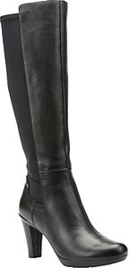 Read more about Geox inspiration block heeled knee high boots black leather